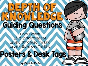 Depth of Knowledge Guiding Questions- Posters and Student