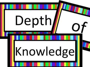 Depth of Knowledge LA Printable Poster Set