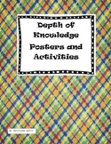Depth of Knowledge Posters and Activities in Color and Black and White
