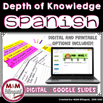 Depth of Knowledge Question Stems {SPANISH}