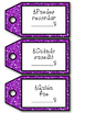 Depth of Knowledge - Question Stems in Spanish Glitter Tags