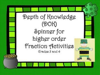 Depth of Knowledge Spinner (DOK)