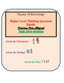 Depths of Knowledge -Higher Level Thinking Questions- Bundle