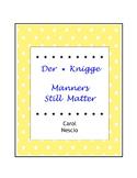 Der * Knigge ~ Manners Still Matter