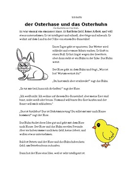 Der Osterhase und das Osterhuhn- eine Osterngeschichte auf Deutsch