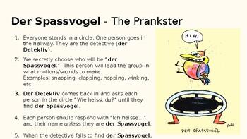 Der Spassvogel: Introductions Game