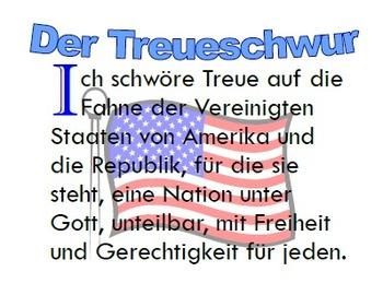 Der Treueschwur: The Pledge of Allegiance in German