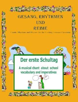 German Musical Chant About School Vocab and Imperatives - Der erste Schultag