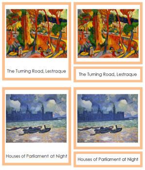 Derain (André) 3-Part Art Cards - Color Borders