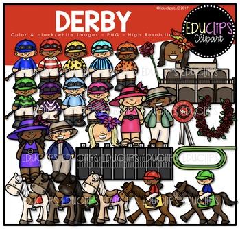 Derby Clip Art Bundle {Educlips Clipart}
