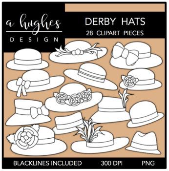 Derby Hats Clipart {A Hughes Design}