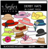 Derby Hats Clipart {A Hughes Design}
