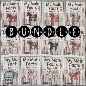 DERBY MATH FACTS BUNDLE Master Multiplication 3.4E 3.4F Great for Intervention!