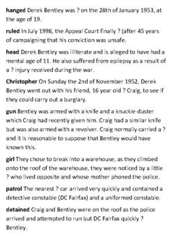 Derek Bentley Let Him Have It - Crossword
