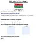 Derek Jeter Online Assignment