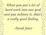 Derek Jeter Poster- HARD WORK!