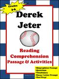 Derek Jeter- Reading Comprehension Passage and Activities