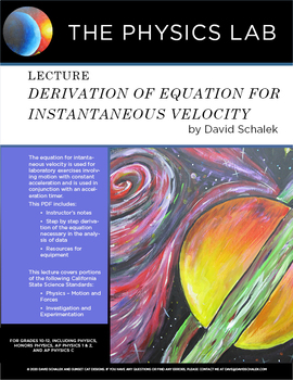 Derivation of Instantaneous Velocity
