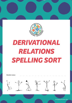 Derivational Relations Spelling Sort