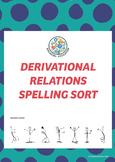 Derivational Relations Spelling Sort