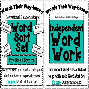 Derivational Relations Word Work Bundle