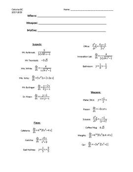 Derivative Clue