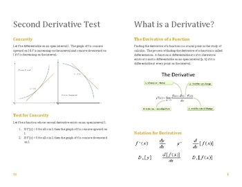 Derivative Review Handout