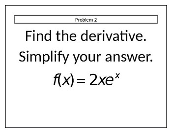 Derivative Rules Stations (NO CHAIN RULE)