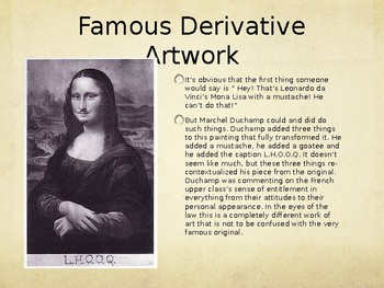 Derivative Work, Plagiarism, and Appropriation Power Point