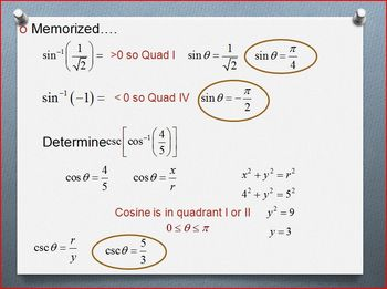Derivative of the Inverse Trig Functions (PP)