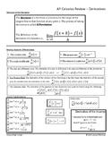 Derivatives -- AP Calculus Review