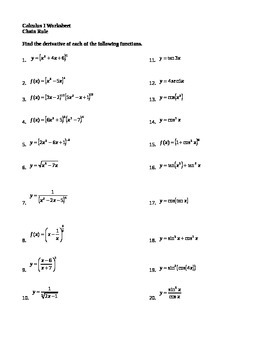 Calculus - Derivatives - Chain Rule