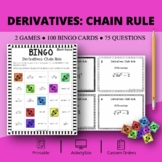 Calculus Derivatives: Chain Rule Math Bingo Review Game