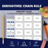 Derivatives: Chain Rule Math Memory Game