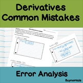 Calculus Derivatives Common Mistakes Error Analysis