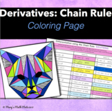 Derivatives: Differentiation using the Chain Rule - Coloring Page