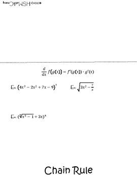Derivatives Foldable
