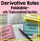 Calculus: Derivatives Foldable with Transcendental Functions FREE