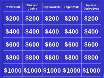 Derivatives Jeopardy