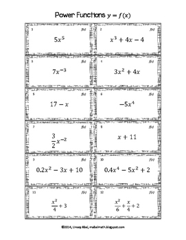 Derivatives Matching Activity: Power Functions