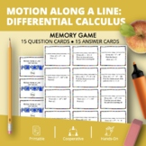 Derivatives: Motion Along a Line Math Memory Game