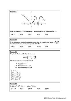 Derivatives (Multiple Choice)
