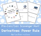 Derivatives:  Power Rule Scavenger Hunt