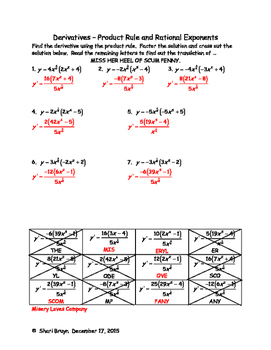 Derivatives - Product Rule and Rational Exponents