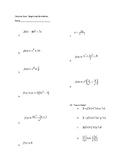 Derivatives Quiz (Constant, Sum/Diff, Power, Product, Quotient Rules)