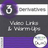 Calculus: Derivatives - Warm-Ups