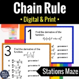 Derivatives Using the Chain Rule Stations Maze
