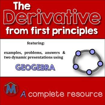 Derivatives - first principles - plus Geogebra presentation