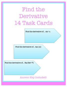 Derivatives task cards