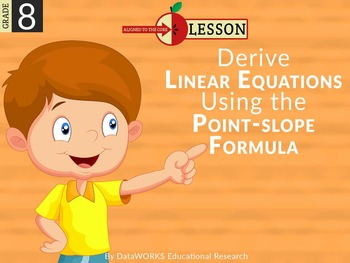 Derive Linear Equations using the Point-Slope Formula